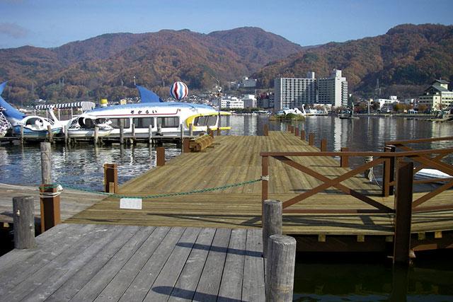 諏訪湖園 桟橋改修