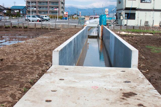 諏訪市四賀 河川付け替え工事