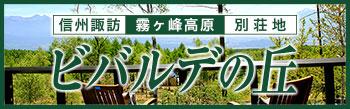 信州 諏訪 霧ヶ峰高原の別荘地ビバルデの丘